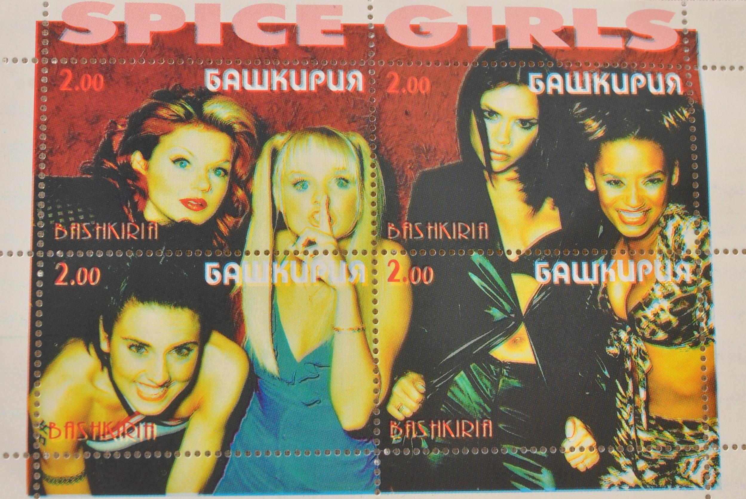 SPICE GIRLS znaczek pocztowy dla miłośnika zespołu