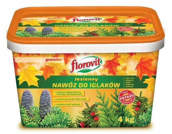 Nawóz do iglaków jesienny Florovit 4 kg granulat