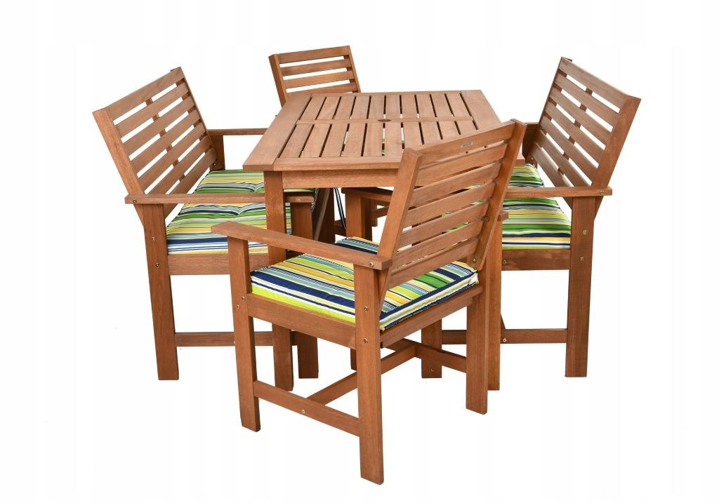 Zestaw mebli ogrodowych krzesła składane meble