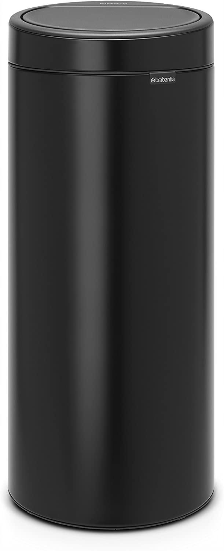 Kosz na śmieci Brabantia Touch Bin mat black 30 l