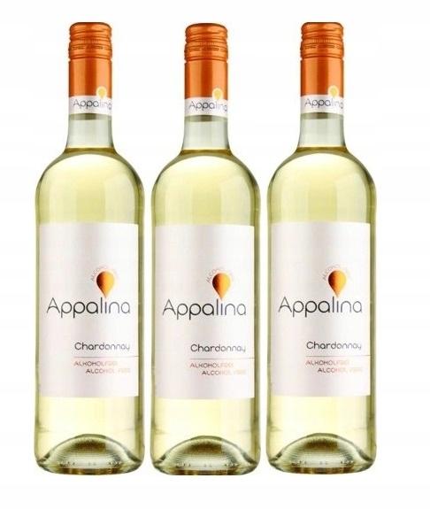 Wino BEZALKOHOLOWE Niemieckie Appalina zestaw 3win