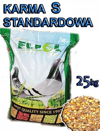 Karma S STANDART dla GOŁĘBI Ptaków 25kg Ziarna
