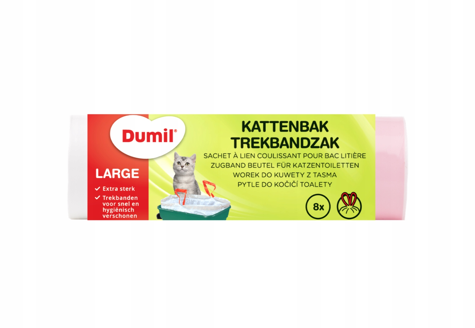 Прочные пакеты для кювет с лентой, большие, 8 шт., XL