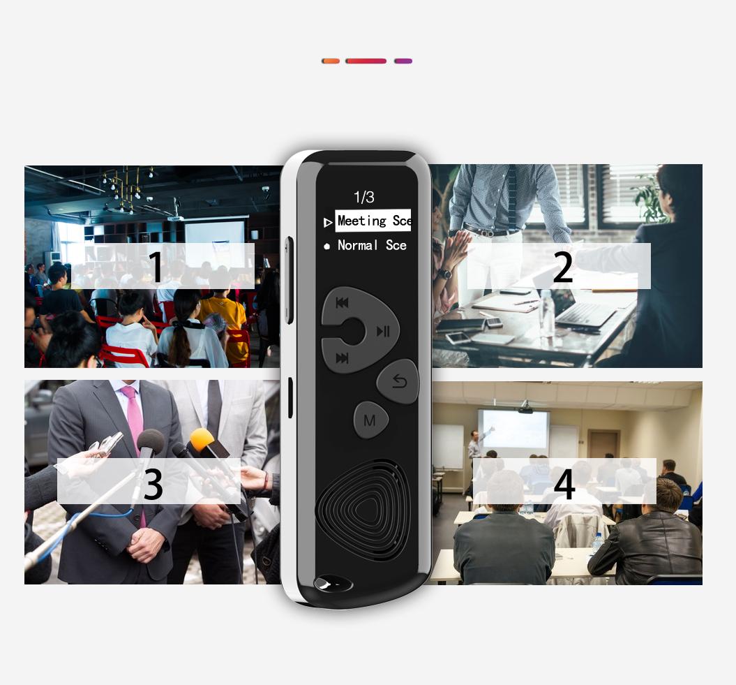 Szpiegowski Dyktafon cyfrowy 1024Kbps 8GB detekcja Złącza wyjście słuchawkowe wejście mikrofonowe USB