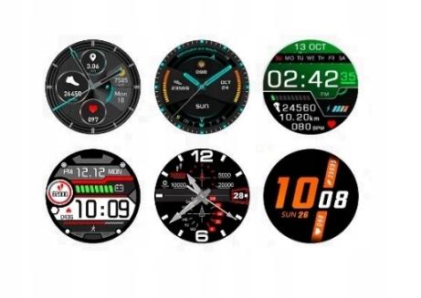 SMARTWATCH Zegarek EKG Krokomierz Puls Bluetooth Wodoszczelność 30m = WR30