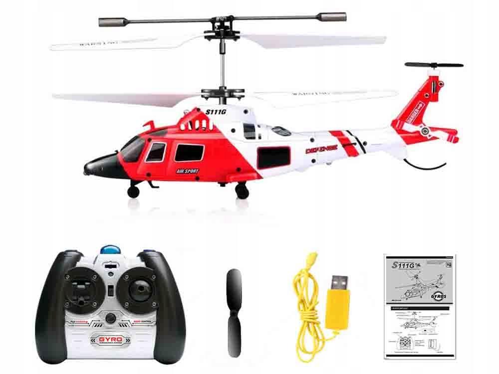Helikopter Syma S111G sterowany na pilota RC0541 Certyfikaty, opinie, atesty CE EN 71
