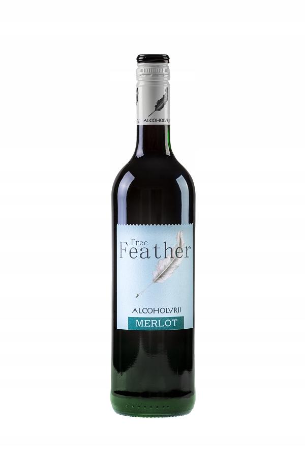 Free Feather- czerwone wino bezalkoholowe 0%