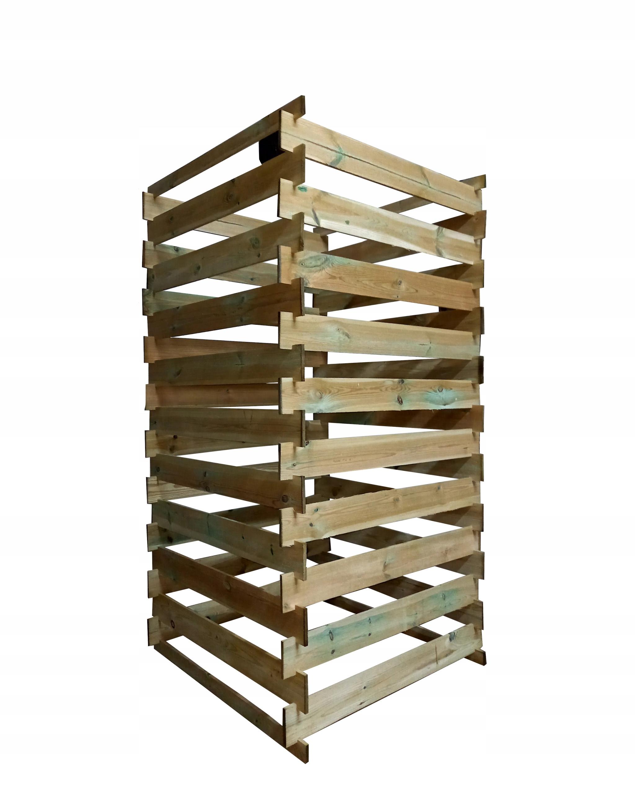 Деревянный компостер 160x80x80, пропитанный