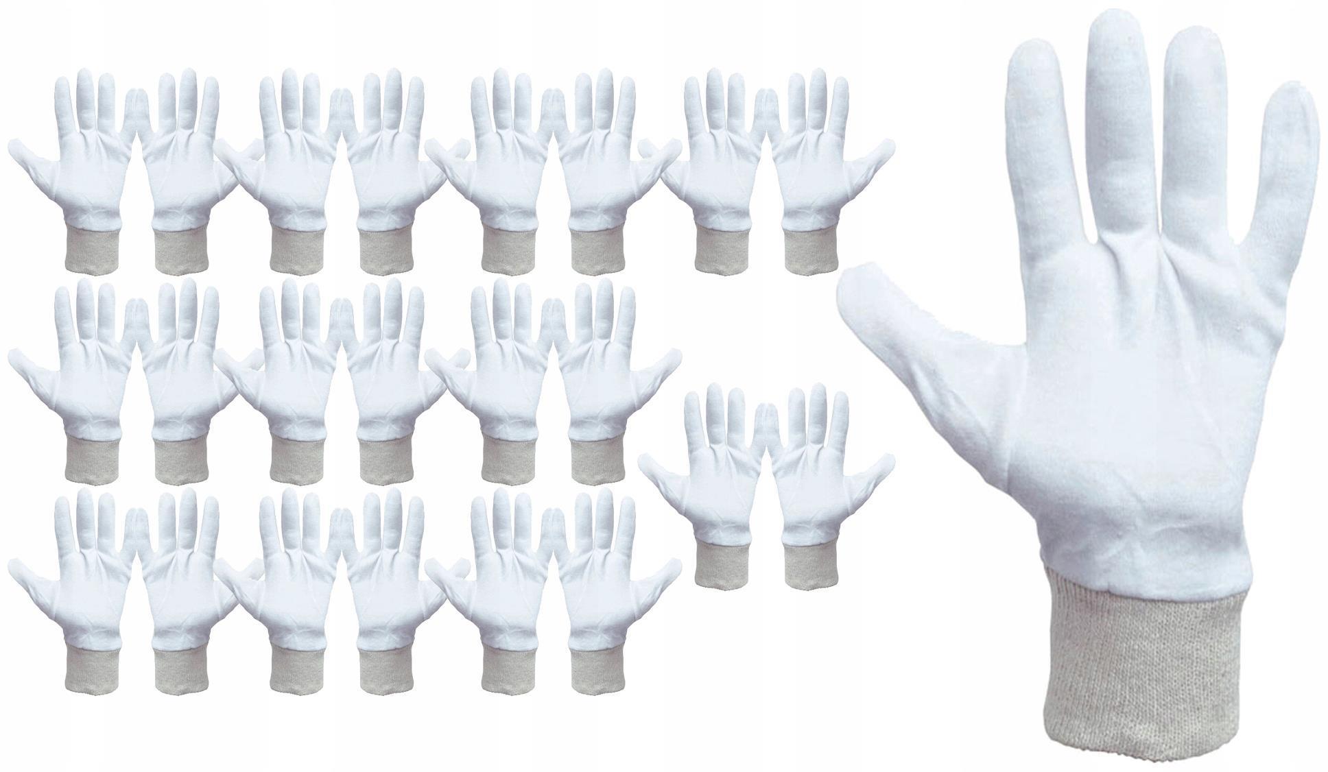12X ХЛОПКОВЫЕ ПЕРЧАТКИ БЕЛЫЕ COREY R 8