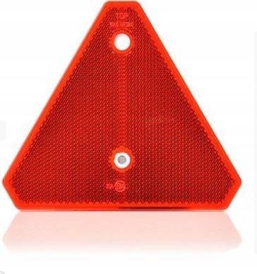 треугольник светоотражающий предупреждение красный на заклепках
