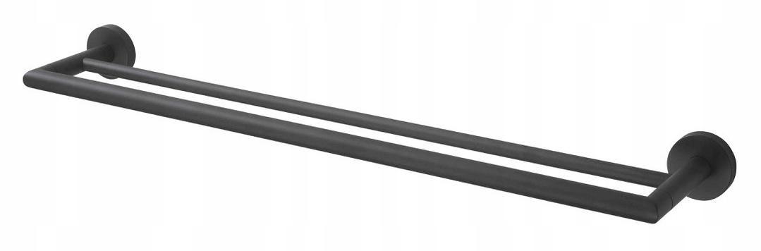Kúpeľňové vešiakové zábradlie čierne 65cm STELLA 07120
