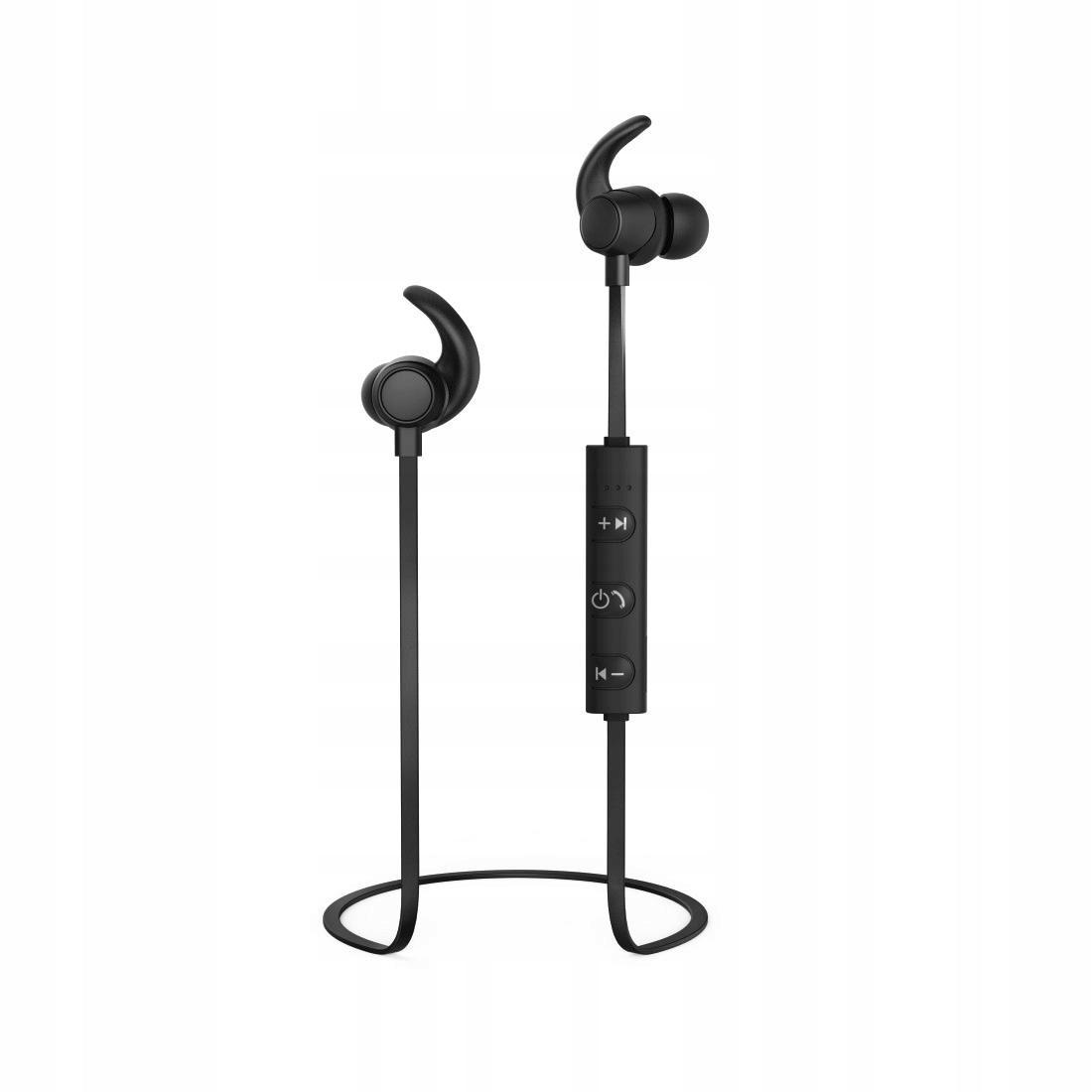 THOMSON Słuchawki douszne BT WEAR7208PU czarne