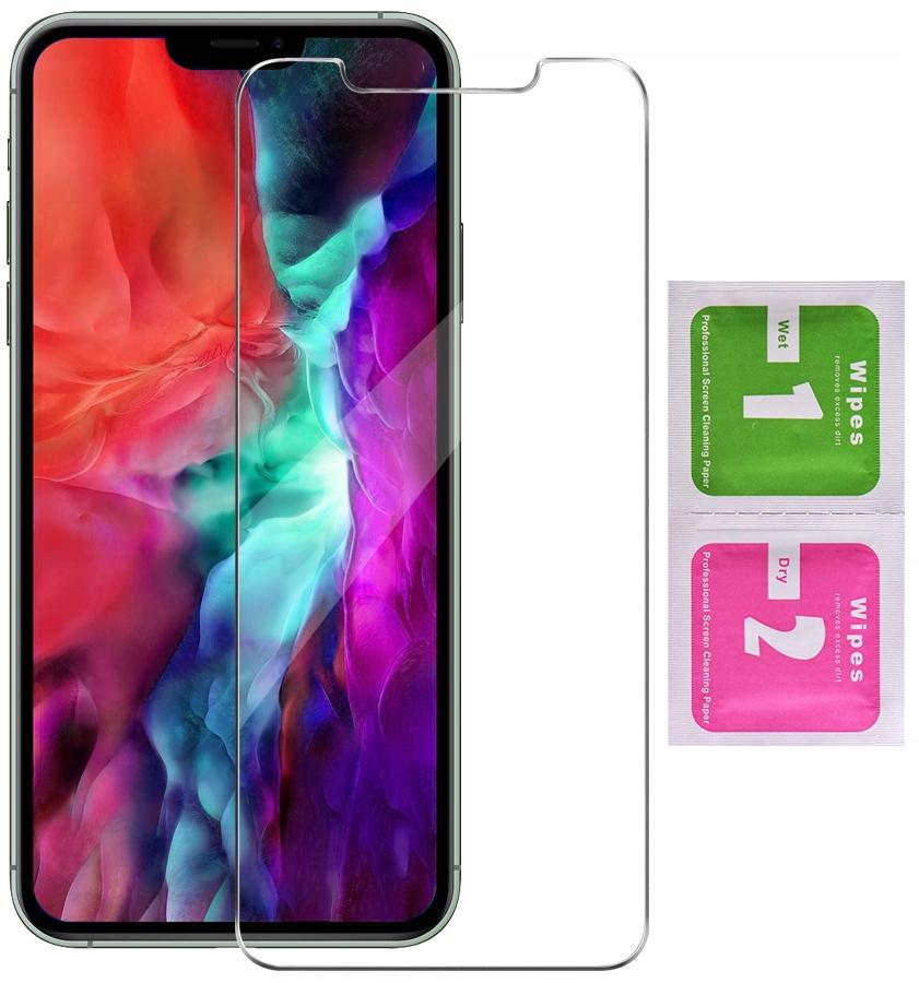 Etui do iPhone 12 Pro Skórzane Portfel + Szkło 9H Kolor czarny