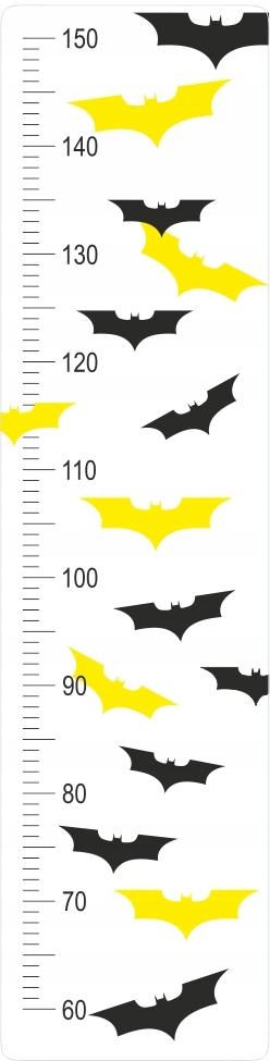 Стикер стены измерения высоты летучей мыши Бэтмена
