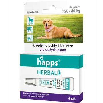 Happs капли от блох и клещей для крупных собак