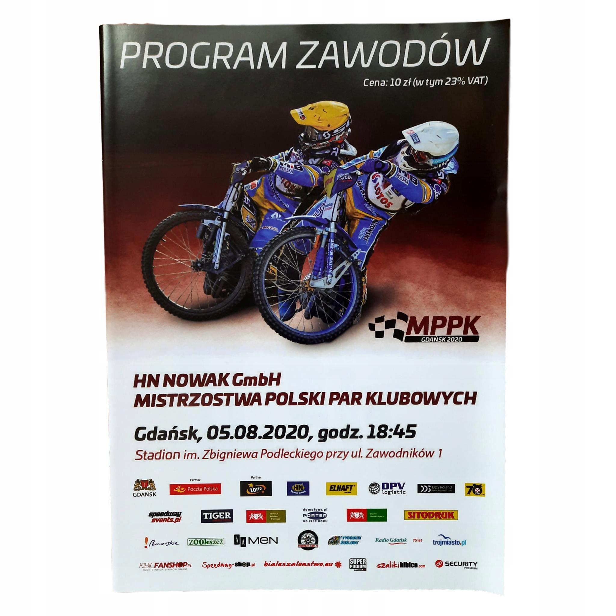 Speedway Program MPPK Club Cours Gdańsk 05.08.20