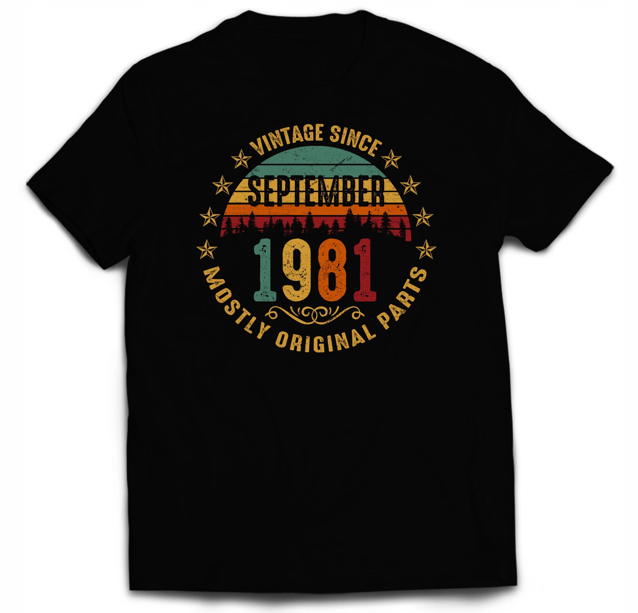 Koszulka Na 40 Urodziny Vintage Wrzesień 1981 3XL