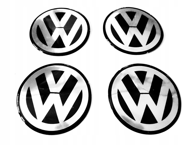 НАКЛЕЙКИ С ЛОГОТИПОМ ЭМБЛЕМЫ НА КОЛЕСАХ VW 55 мм.