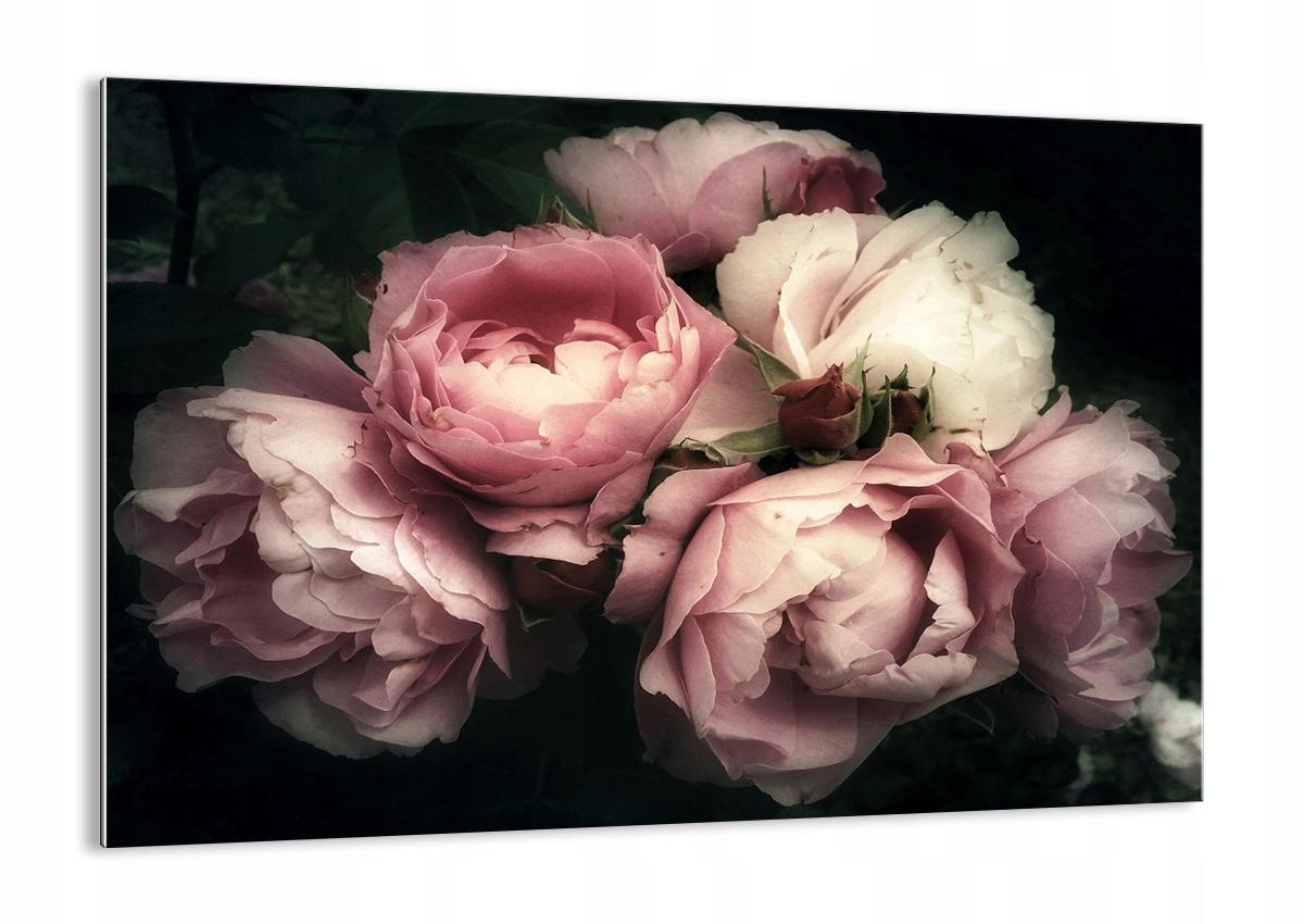 Vzor sklo ruže, kvety retro GAA100x70-3930