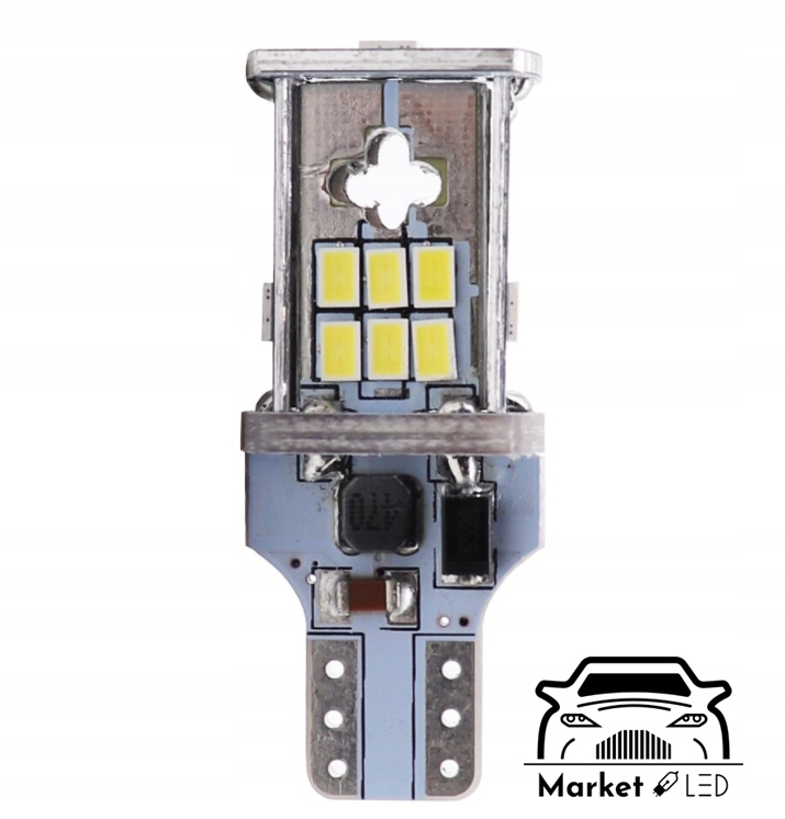 Żarówki LED - Światła Wsteczne W16W/T10 - CanBus Liczba sztuk 2 szt.