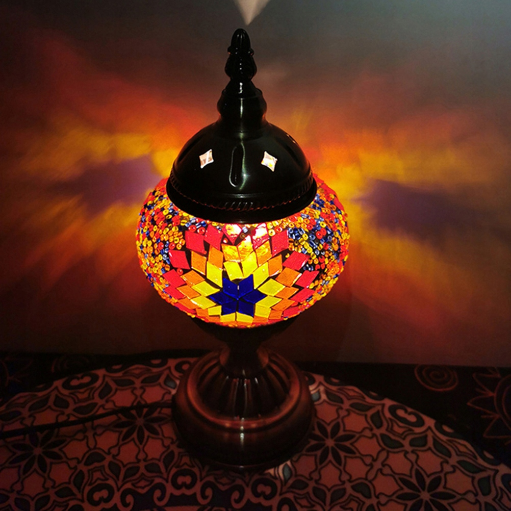 Poťah Rainbow Mosaic Glass v retro štýle Turecka