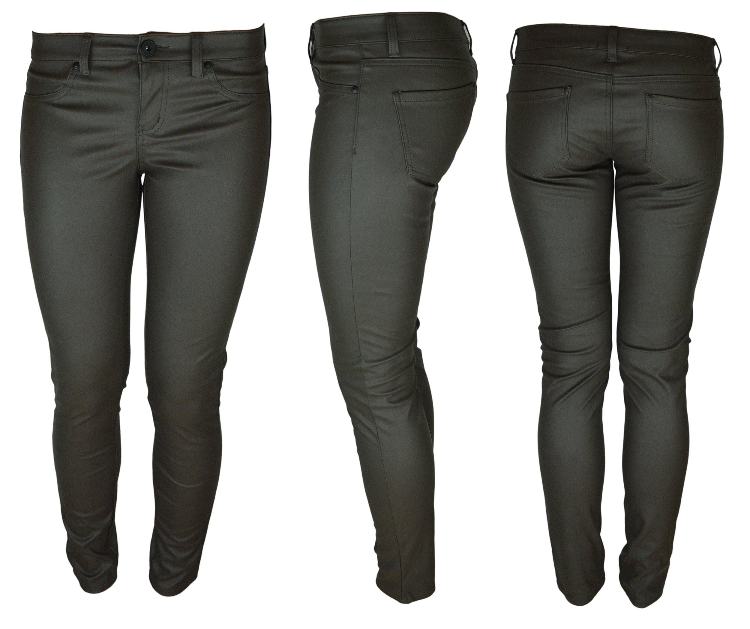 Tezenis spodnie skóra brązowe skórzane S
