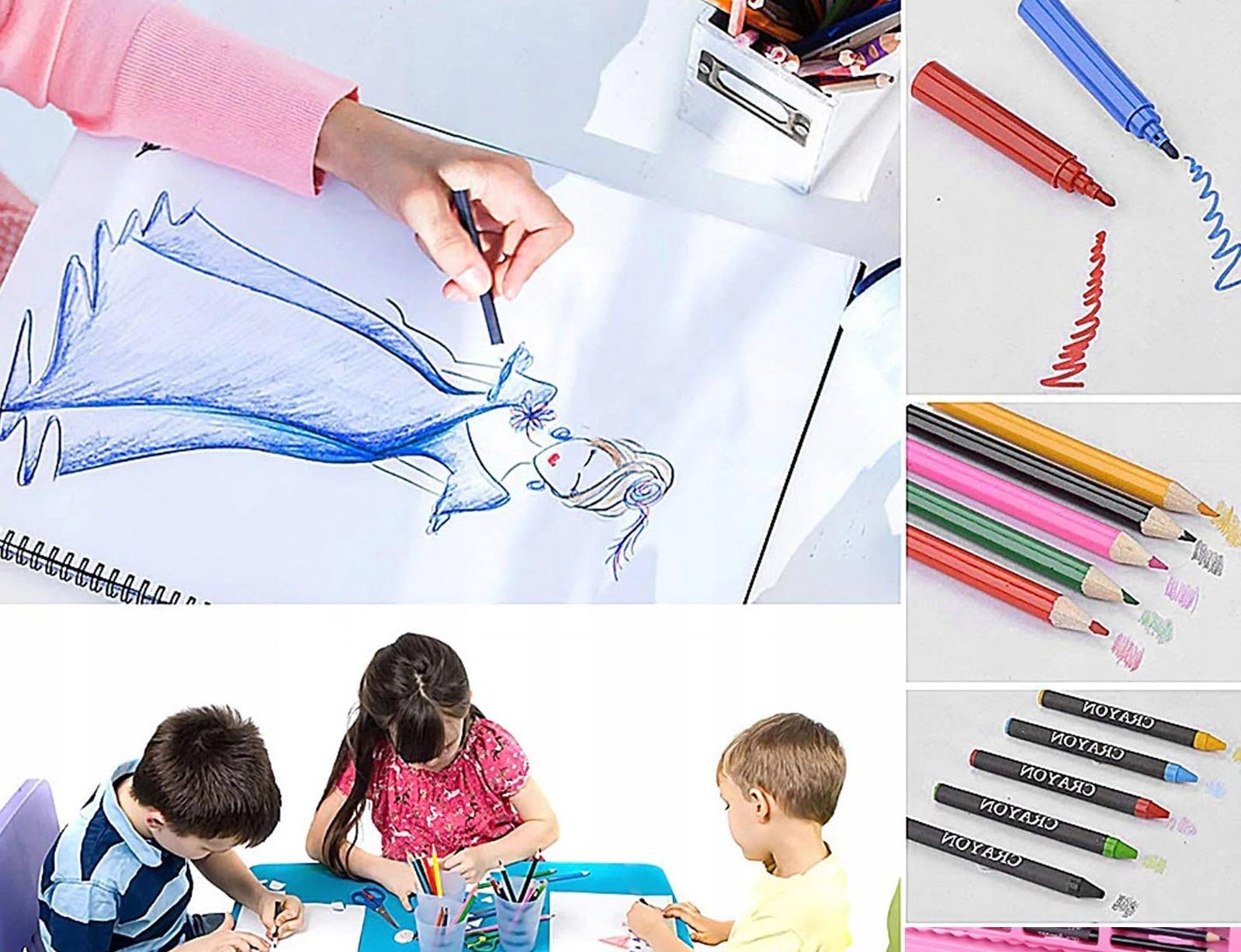 Zestaw artystyczny do malowania 168 el w walizce Liczba sztuk w zestawie 168 szt.