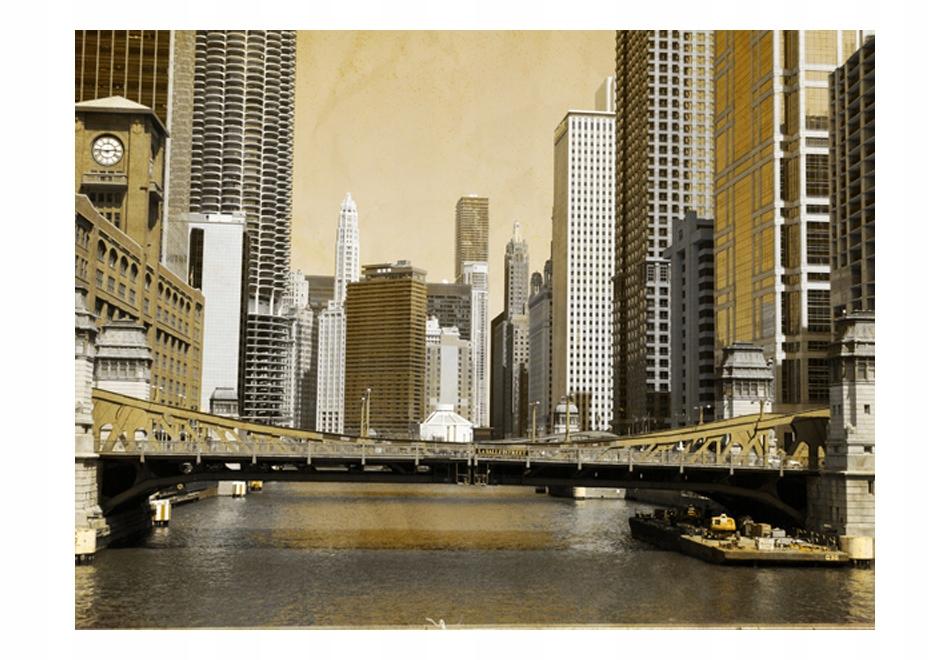 Nástenné maľby 250x193cm Most v Chicagu (vplyv ročníka