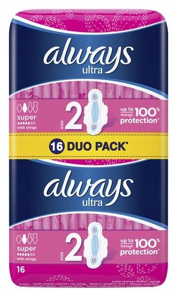 Гигиенические прокладки Always Ultra DUO 16pcs. СУПЕР