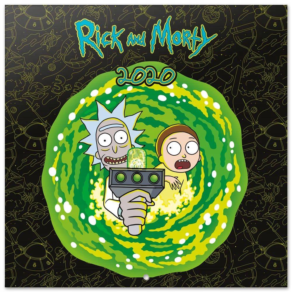 Rick a Morty oficiálny kalendár pre stenu 2020