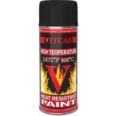 Žiaruvzdorná farba VITCAS - ČIERNA 800 ° C