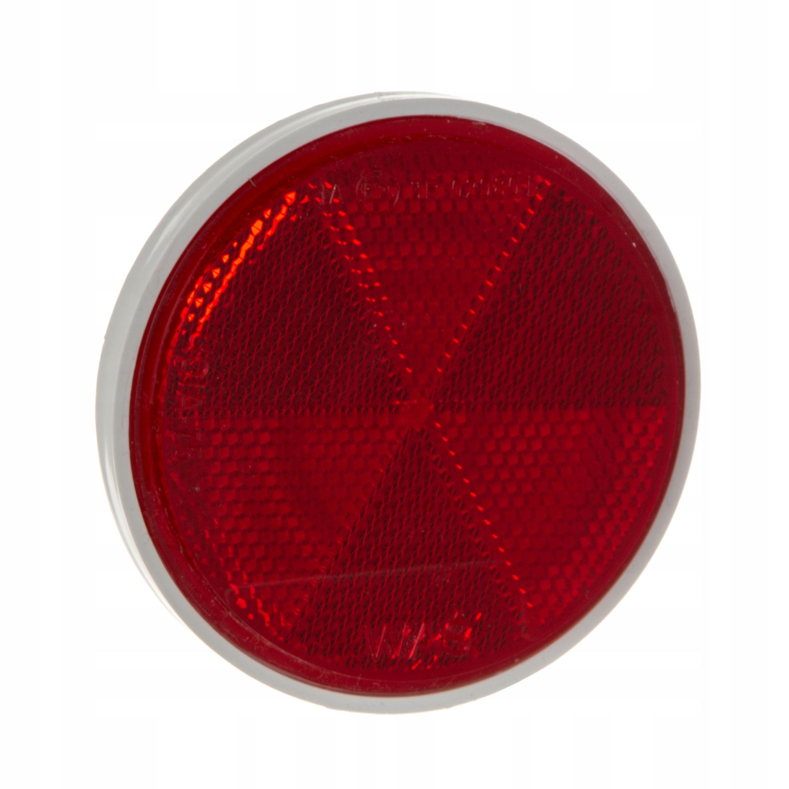 отблеск круглый красный fi 75mm самоклеящаяся