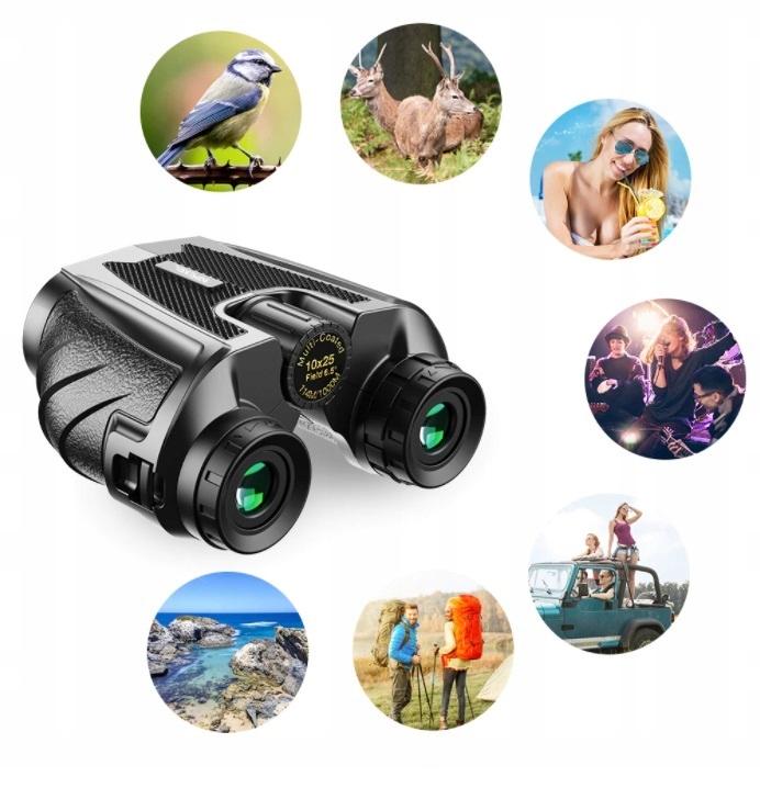 LORNETKA BINOKULAR TELESKOP HD 10x25 BAK4 APEXEL Średnica obiektywów 25 mm