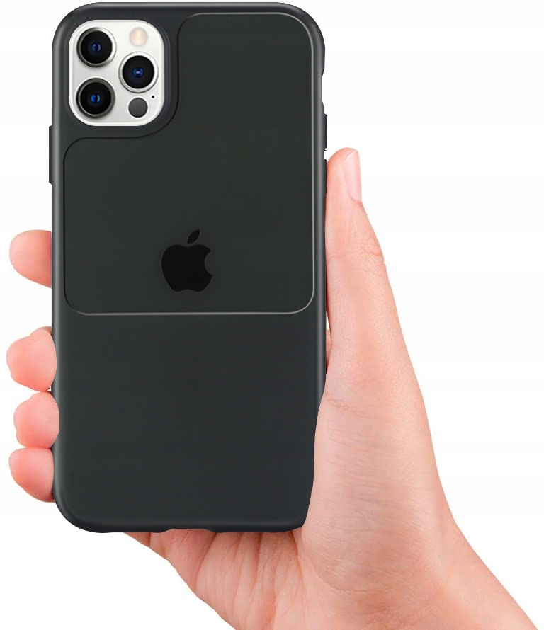 Etui do iPhone 12 Pro Case Silikon Guma + SZKŁO Dedykowany model iPhone 12 Pro