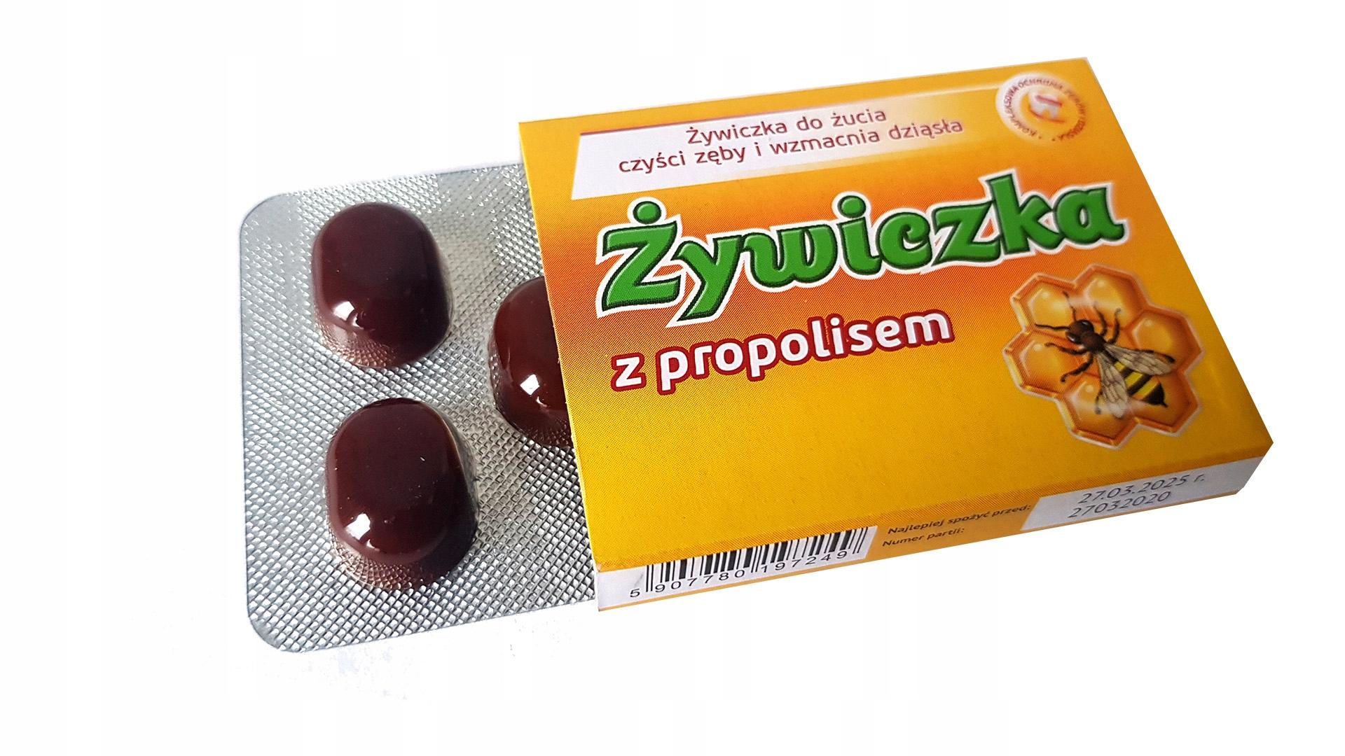 eko guma do żucia ŻYWICZKA MODRZEWIA i Propolis x1