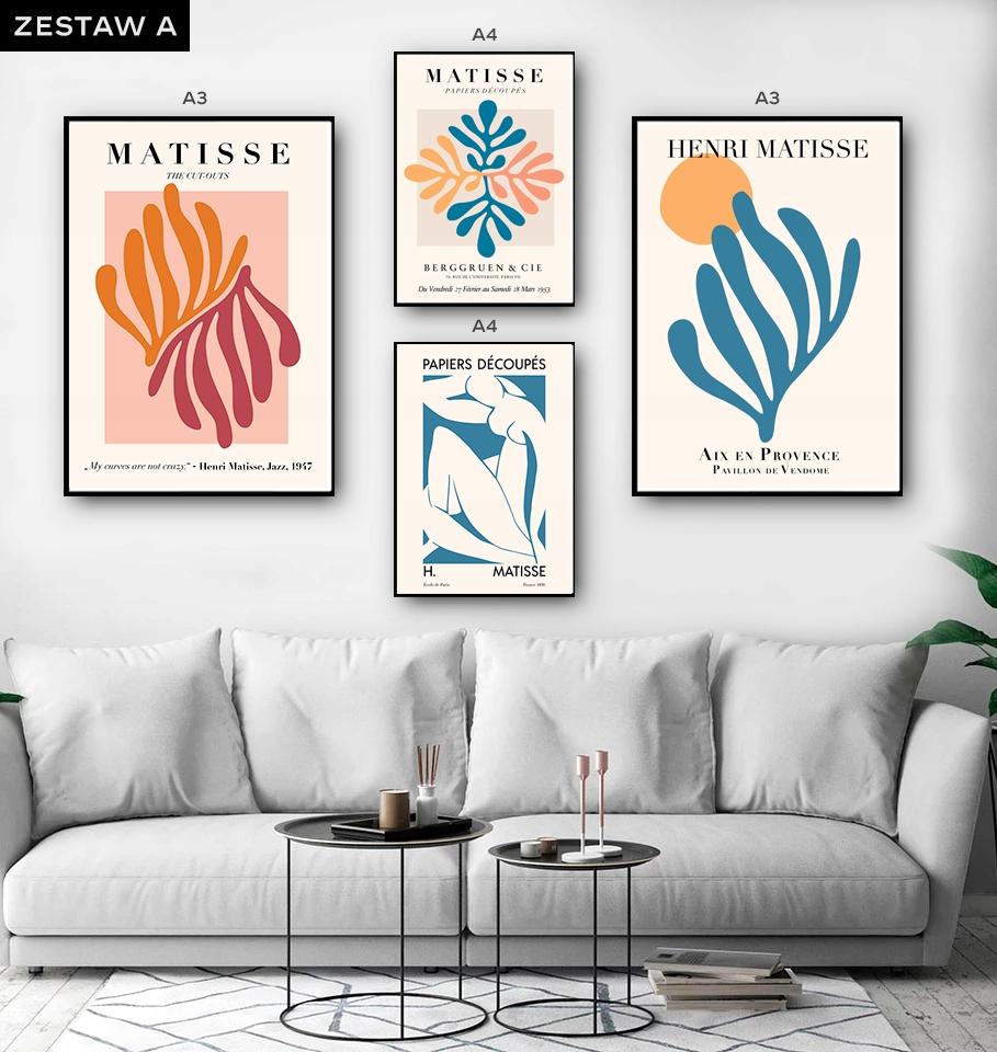 Zestawy Grafik Henri Matisse Artystyczne A3 A4