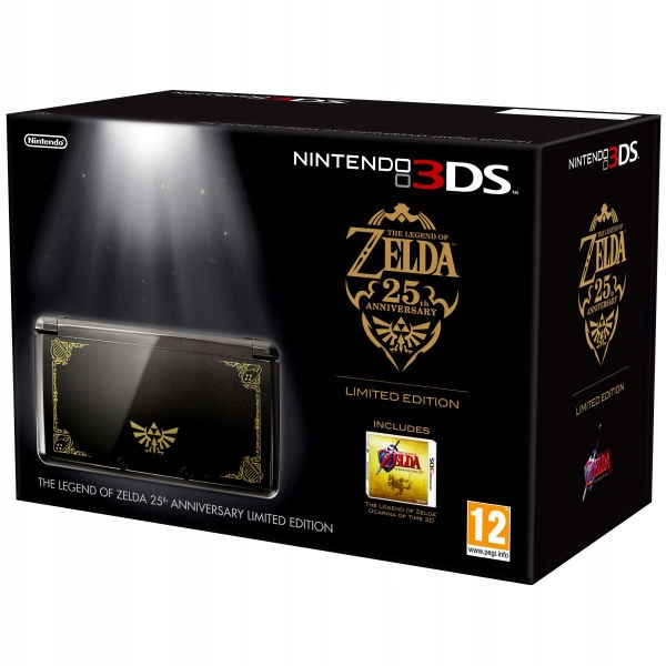 NINTENDO 3DS LIMITED ZELDA 25th ANNIVERSARY +2 GRY