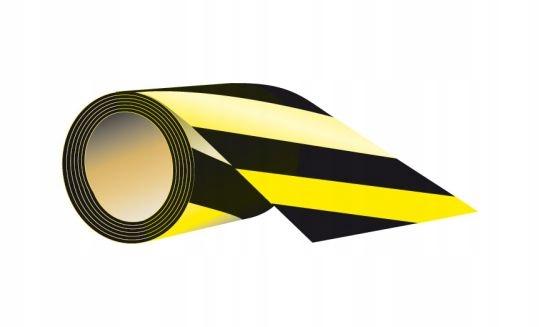 Samolepiaca páska 7,5 cm x 58 MB čierna a žltá