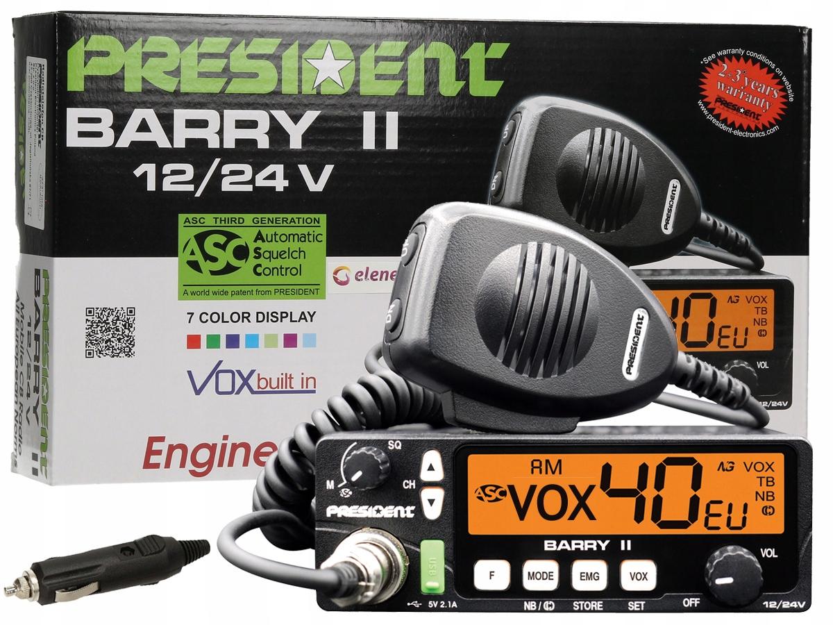 Radio Cb President Barry Asc Am Fm Nb 12v 24v A3k 7185408313 Sklep Internetowy Agd Rtv Telefony Laptopy Allegro Pl