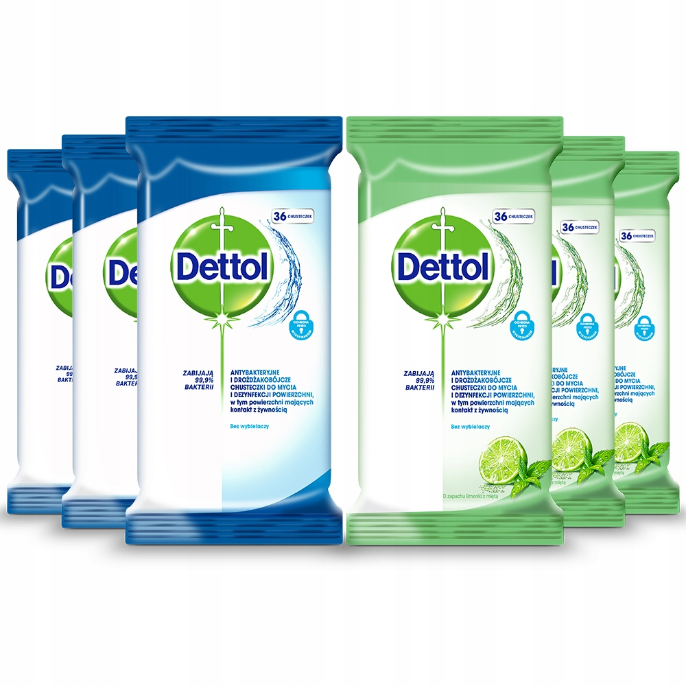 DETTOL салфетки для дезинфекции очистки 6 оп