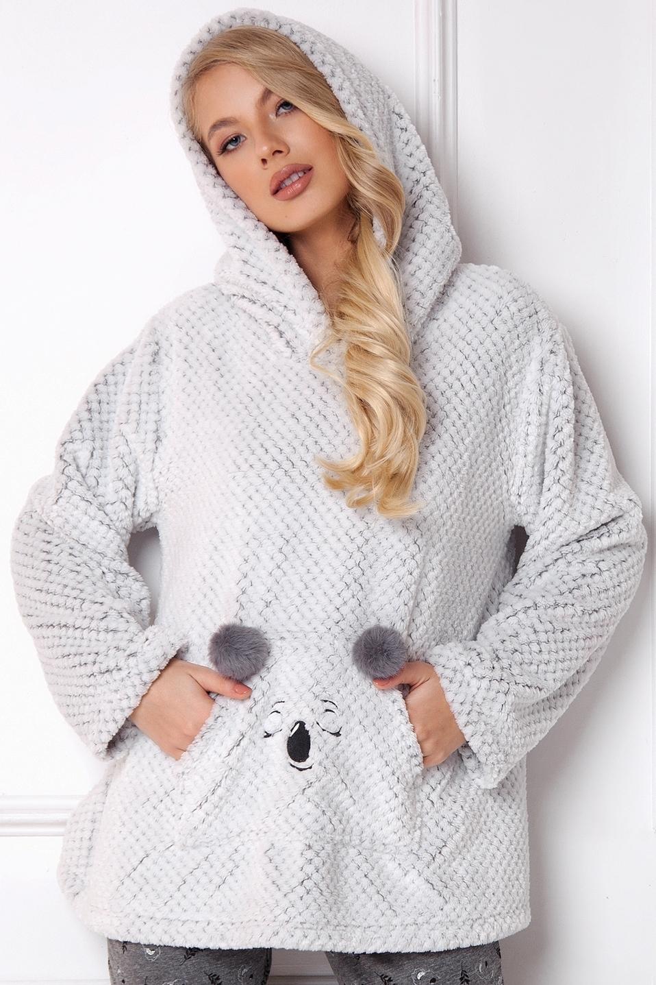 Купить AU Теплый свитшот KAILA SWEATER * L * серый на Otpravka - цены и фото - доставка из Польши и стран Европы в Украину.