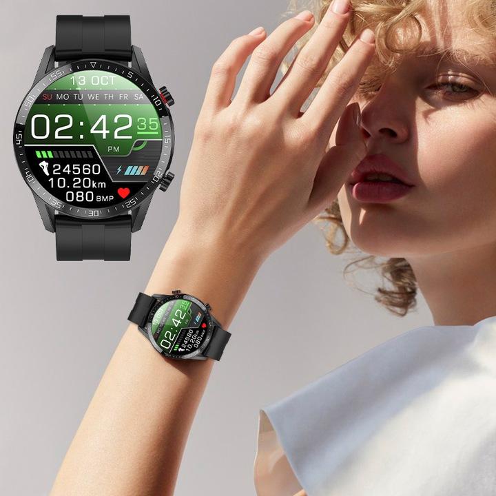 SMARTWATCH Zegarek EKG Krokomierz Puls Bluetooth Funkcje alarm krokomierz monitor snu pomiar ciśnienia pomiar temperatury pomiar tętna powiadomienia o połączeniach/SMS przebyty dystans spalone kalorie stoper zegar