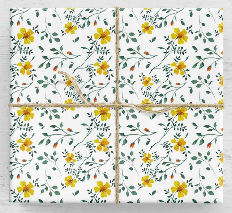 Darčekový baliaci papier Tagetes 10 listov