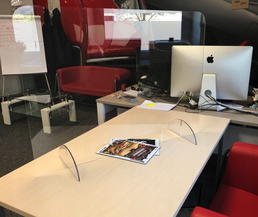 Poťah z plexiskla, ochranné sklo, písací stôl 100x75 + ZDARMA Výška 75 cm