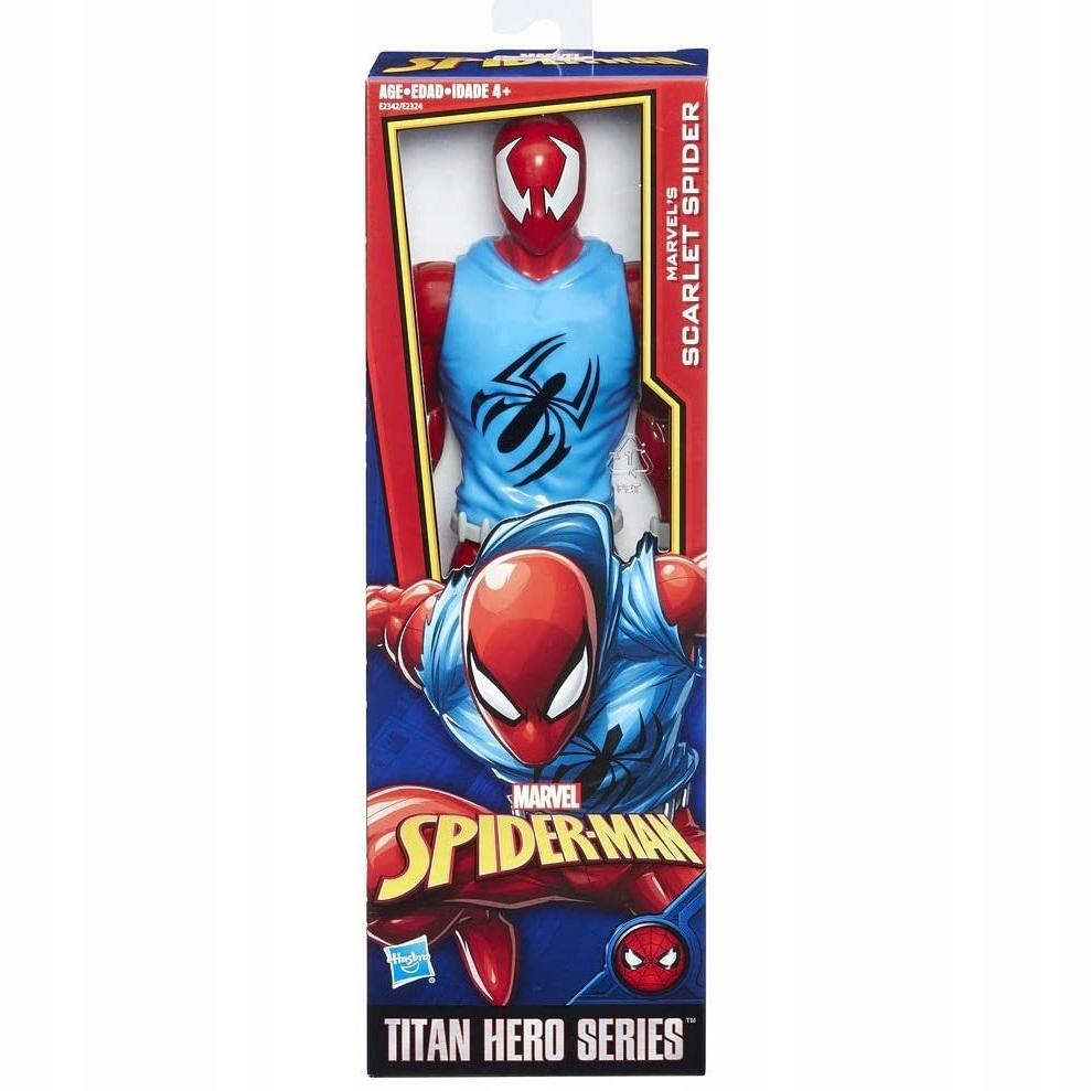 HASBRO SCARLET SPIDER SPIDERMAN RUCH. FIGURKA 30cm Seria Titan Hero