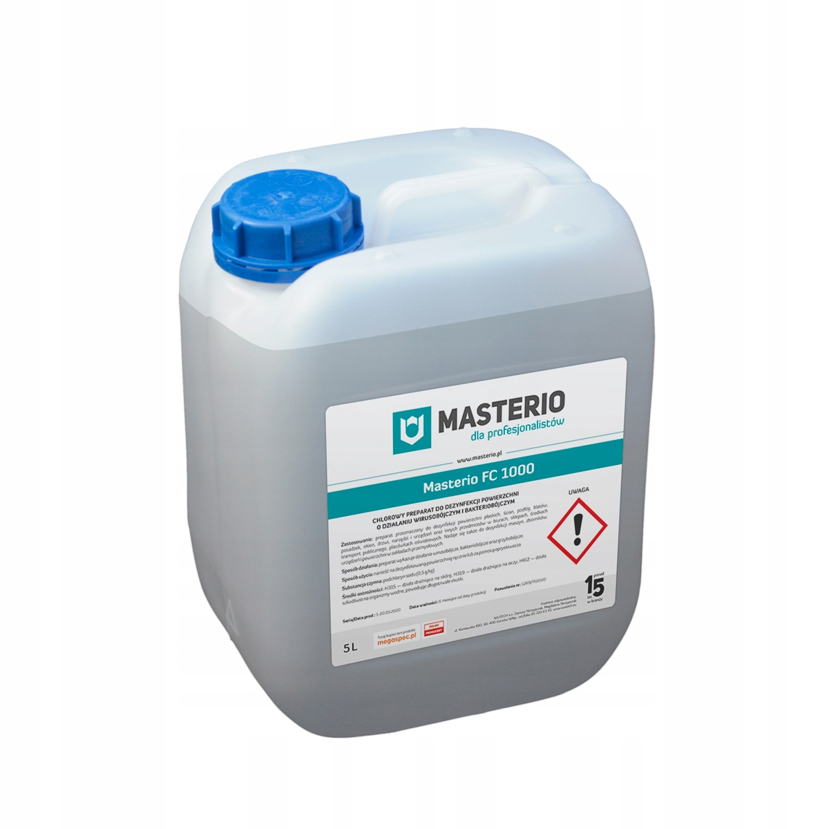 Płyn do dezynfekcji powierzchni, narzędzi, 5L