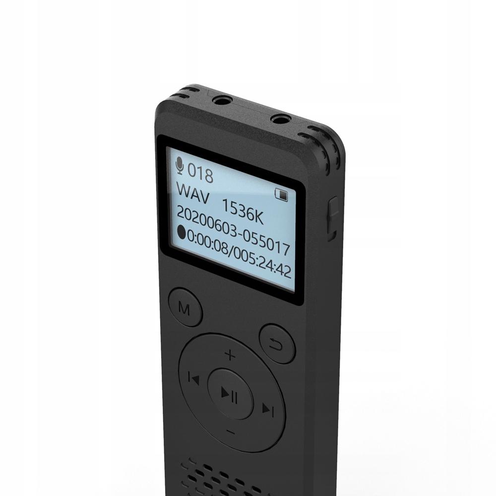 Szpiegowski Dyktafon cyfrowy1536Kbps 8GB detekcja Cechy dodatkowe Doskonały dyktafon z pamięcią 8GB Czas działania aż do 110h Niesamowicie małe wymiary Wysoka jakość nagrań 1536Kbps HD