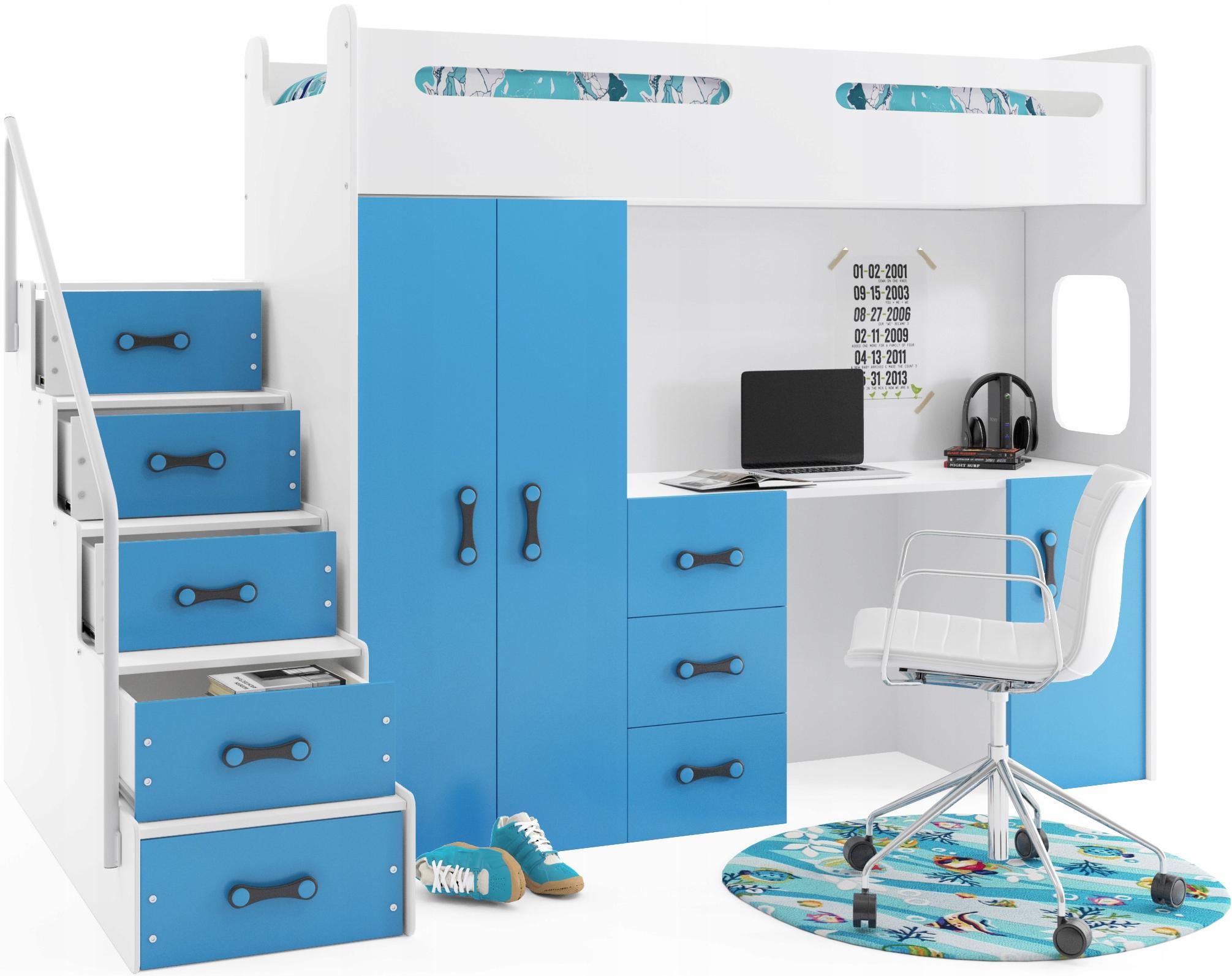 кровать кровать мезонин+шкаф МАКС 4 200x80+рабочий СТОЛ