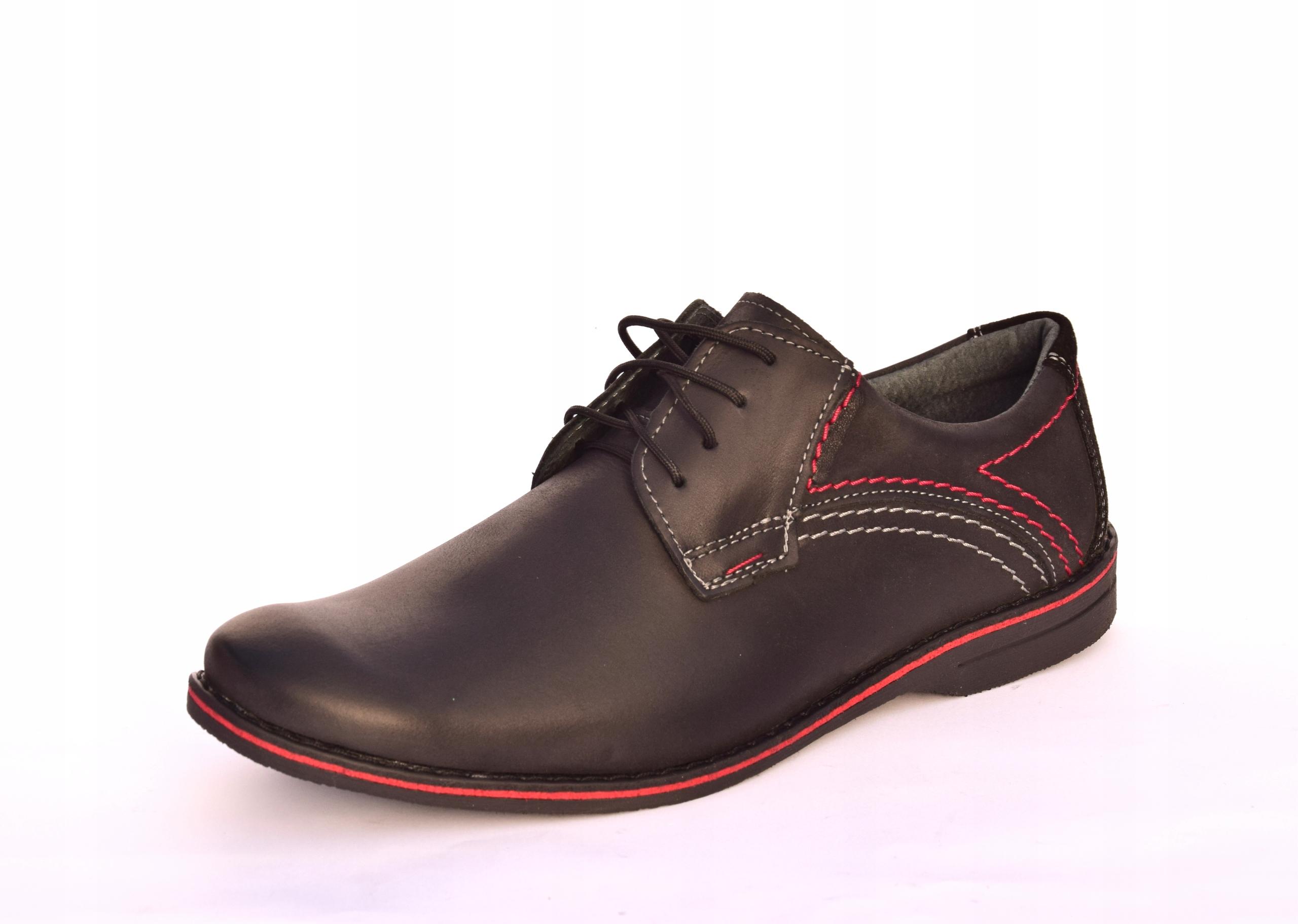 Buty męskie casual obuwie skórzane polskie 242