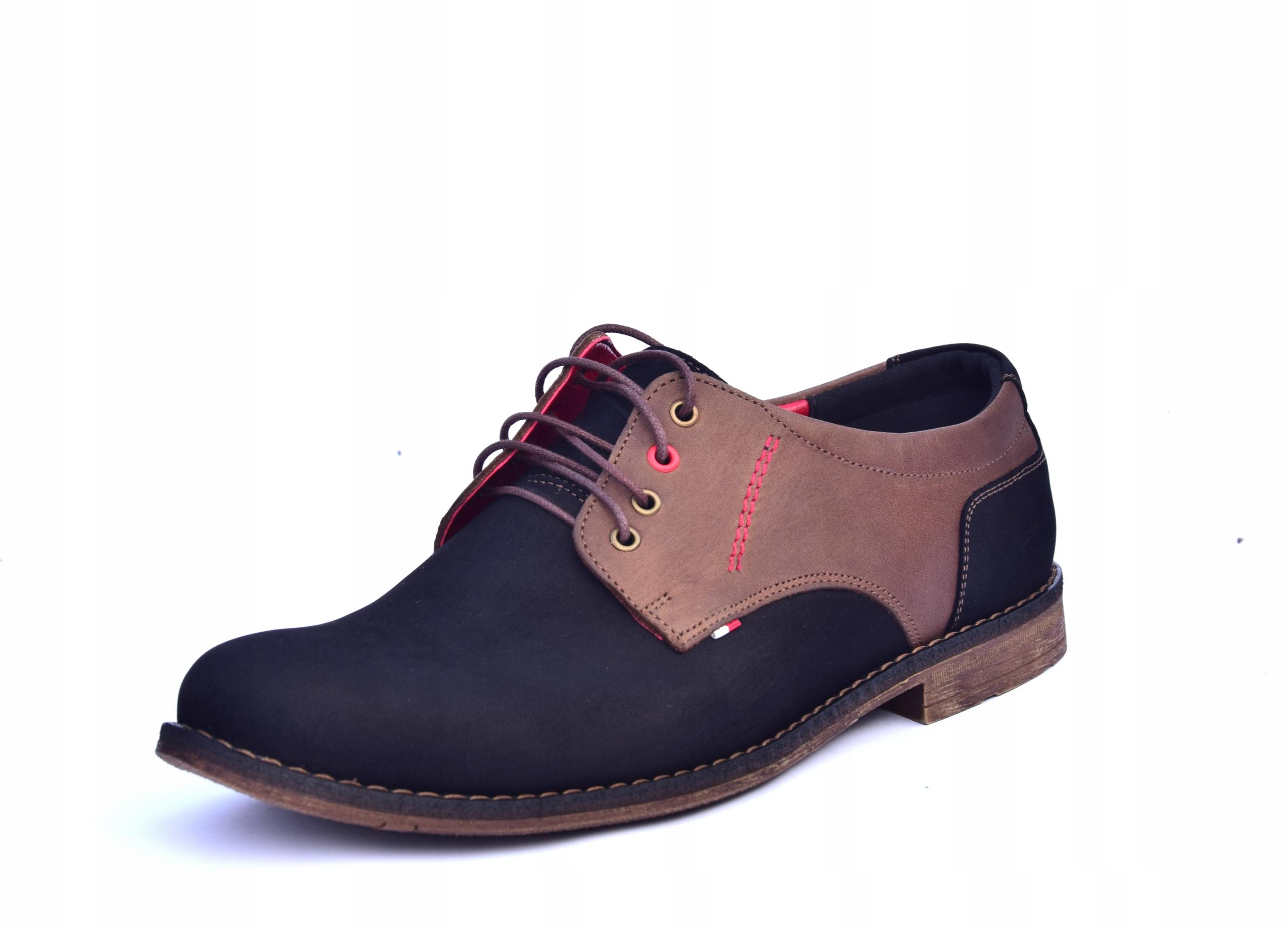 Buty skórzane męskie obuwie polskiej produkcji 258